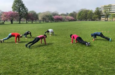 Ladies bootcamp fitandhappy edinburgh planks